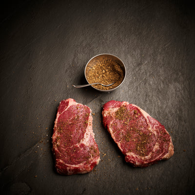 Exotic Black Pepper seasoned Beef Rib eye steak