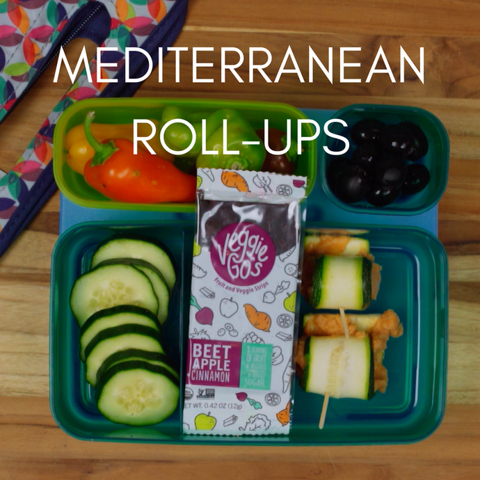 Mediterranean Hummus Roll-ups Lunchbox Idea