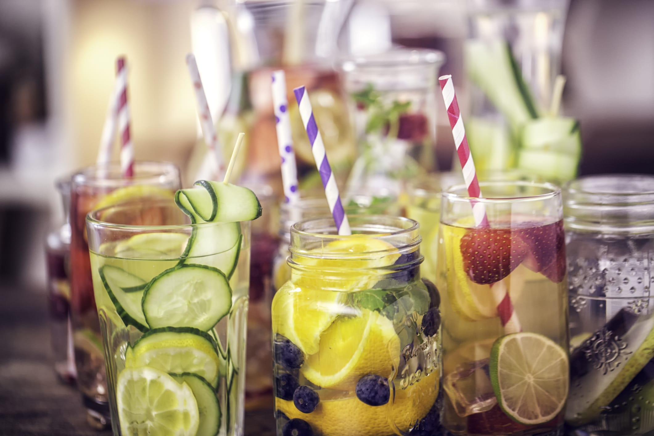 Infused Water with Fresh Fruits