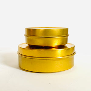 Travel Tins - Gold (two sizes)
