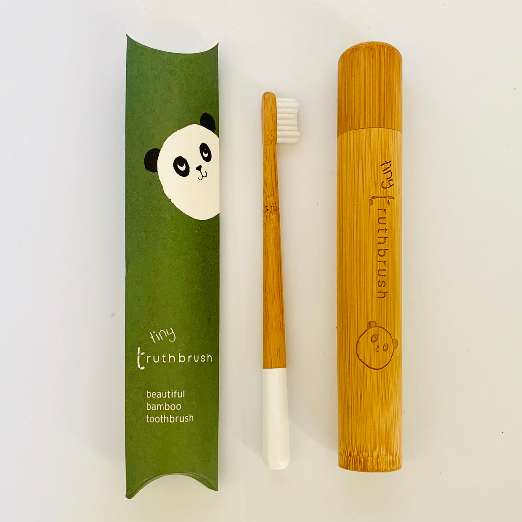 Kids' Bamboo Toothbrush + Travel Case