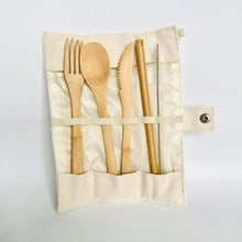 Load image into Gallery viewer, Bamboo Travel Cutlery