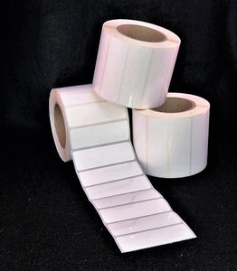 "3"" x 1"" Die Cut High Gloss Synthetic Inkjet Labels for Epson C3400 / C3500 (8 rolls)"