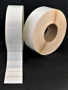 "2"" x 1"" Die Cut Matte Paper Inkjet Labels for Epson/VIP Printers (2 rolls)"