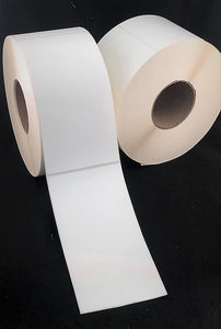 "3"" x 6"" Die Cut Matte Paper Inkjet Labels for Epson/VIP Printers (2 rolls)"