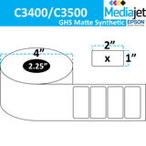 "<strong>2"" x 1""</strong><br> Die Cut GHS Matte Synthetic Inkjet Labels for Epson C3400 / C3500<br>"