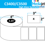 "<strong>3"" x 2""</strong><br>Die Cut High Gloss Synthetic Inkjet Labels for Epson C3400 / C3500<br>(8 Rolls)"