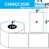 "<strong>3"" x 5""</strong><br>Die Cut High Gloss Synthetic Inkjet Labels for Epson C3400 / C3500<br>(8 Rolls)"