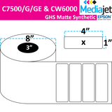 "<strong>4"" x 1""</strong><br>Die Cut GHS Matte Synthetic Inkjet Labels for Epson C7500/6000<br>(2 Rolls)"