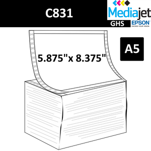 "5.875"" x 8.375"" (A5) GHS Inkjet Labels for Epson C831"