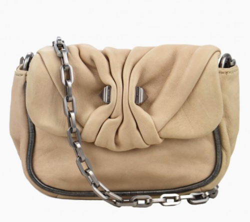 Marc By Marc Jacobs Handbag Beige Soft Leather