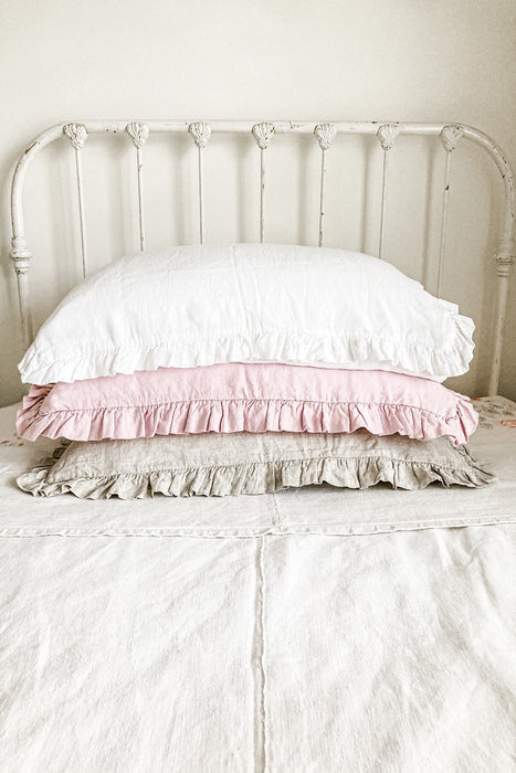 Ruffle Linen Pillow Case