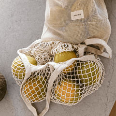 reusable market bags! perfect for the farmers market or beach to ditch single use plastic