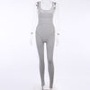 Toplook Ribbed Skinny Casual Womens Jumpsuit Biker Shorts Rompers Summer Sleeveless Sporty Workout Bodycon Playsuits Solid