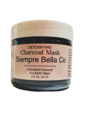 DETOXIFYING CHARCOAL MASK by Siempre Bella Co