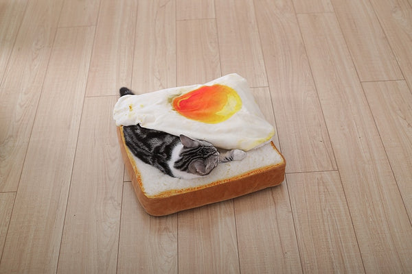 Soft Toast Bread and Poached Eggs Mats