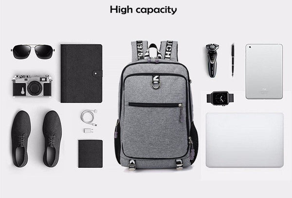 Waterproof USB Charging Travel School Sport Backpack
