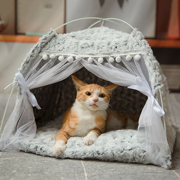 Elegant Warm Cat Bed Tent House