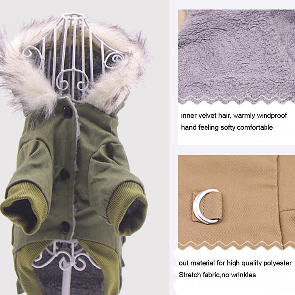 WARM AND WATER REPELLENT WINTER COAT FOR PET DOG