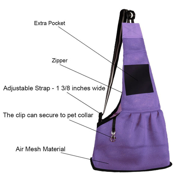 BREATHABLE SOFT FABRIC PET CARRIER BAG FOR YOUR CATS AND DOGS