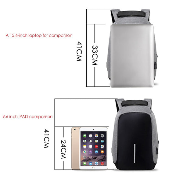 Laptop Backpack USB Charging Anti Theft Travel Backpack