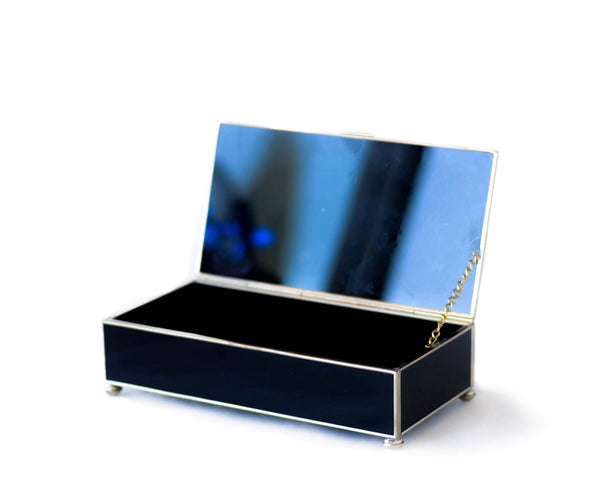 BLACK CHANEL-INSPIRED JEWELRY BOX