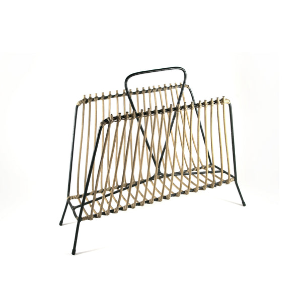 CL VINTAGE BAMBOO MAGAZINE RACK