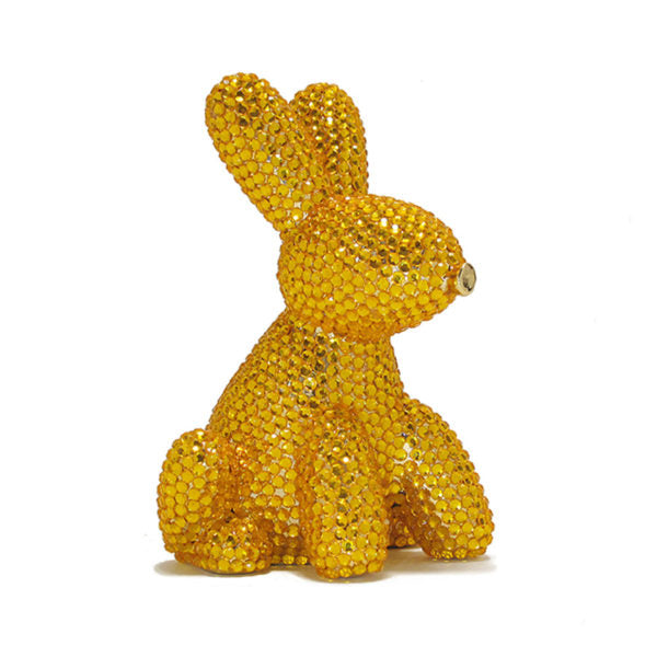 KOONS INSPIRED CRYSTAL BALLOON BUNNY MONEY BANK