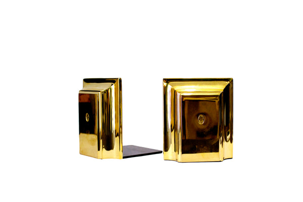 EL CASCO POLISHED GOLD BOOKENDS
