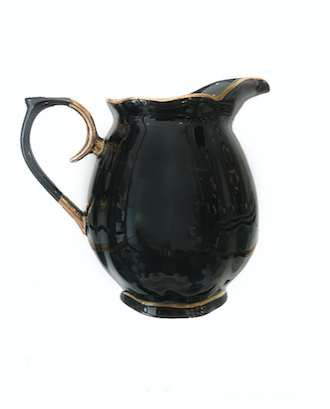 BLACK AND GOLD GLOSSY CREAMER