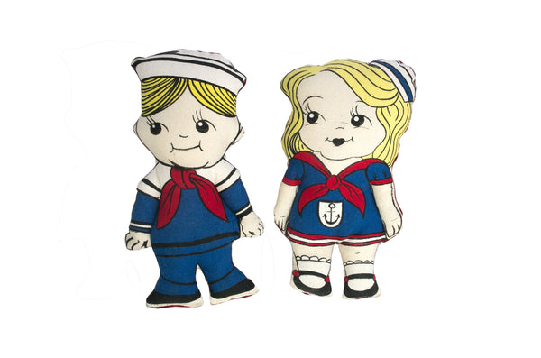 HANDMADE CANVAS SAILOR DOLLS