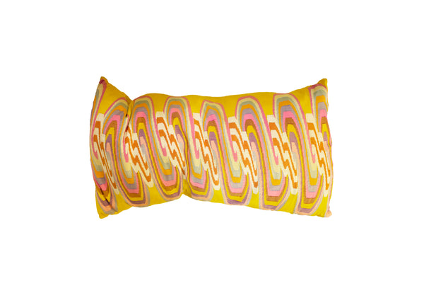 VINTAGE WEDDING SARONG LUMBAR PILLOW