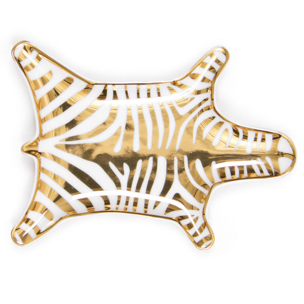 METALLIC ZEBRA STACKING DISH