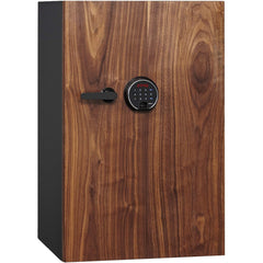 Fingerprint Lock Luxury Fireproof Safe with Walnut Door