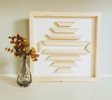Load image into Gallery viewer, White & Pine Wood Art
