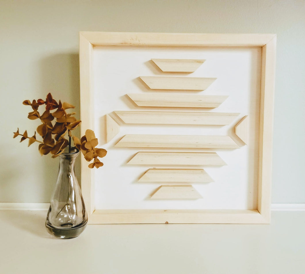 White & Pine Wood Art