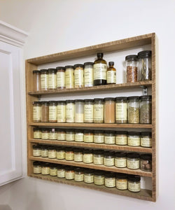 Wall-Mount Wooden Spice Rack