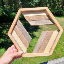 Load image into Gallery viewer, Reclaimed Wood Hexagon Art