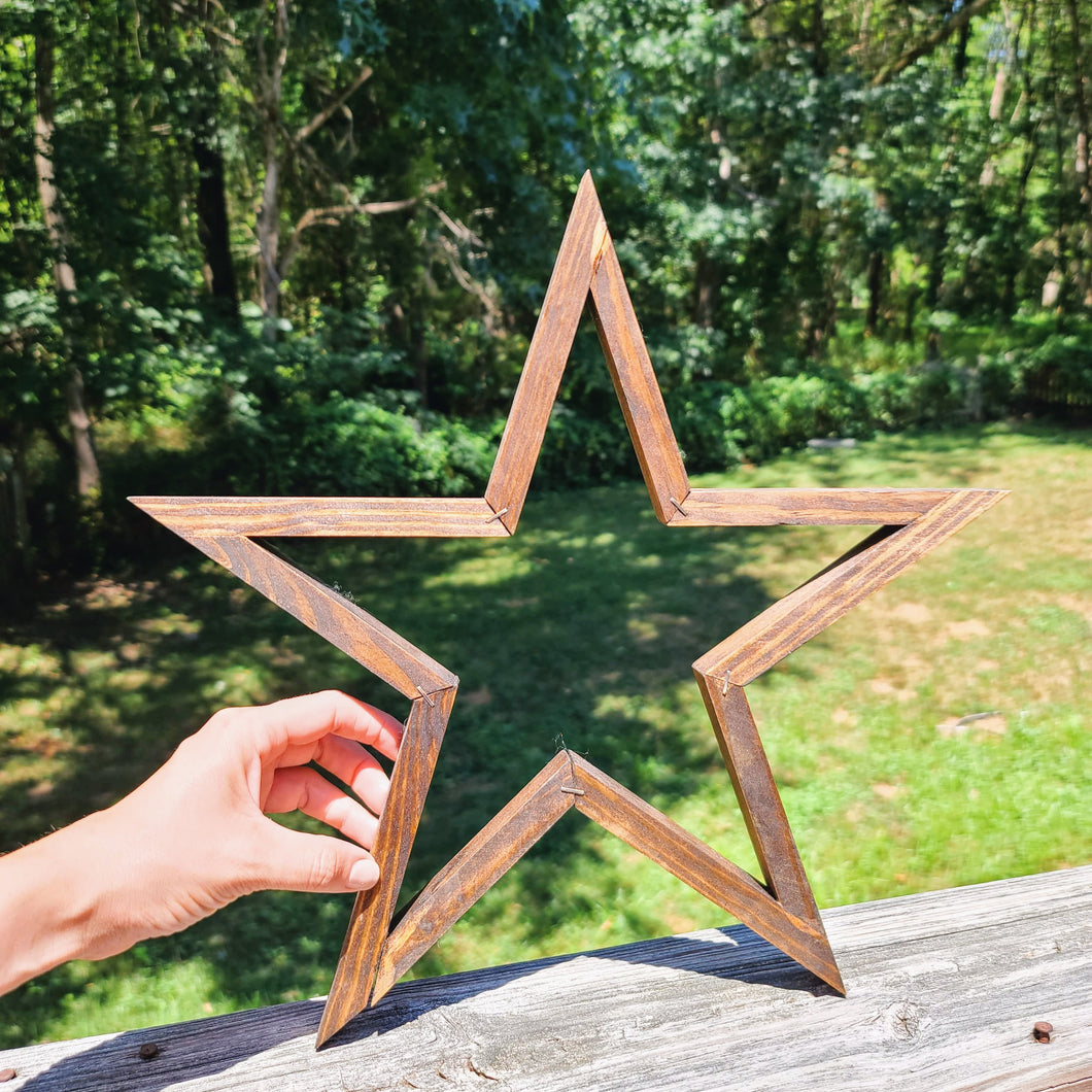 Stained Wood Star