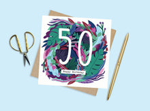 Load image into Gallery viewer, 50th Birthday Card