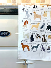 Load image into Gallery viewer, A-Z of Dogs Tea Towel