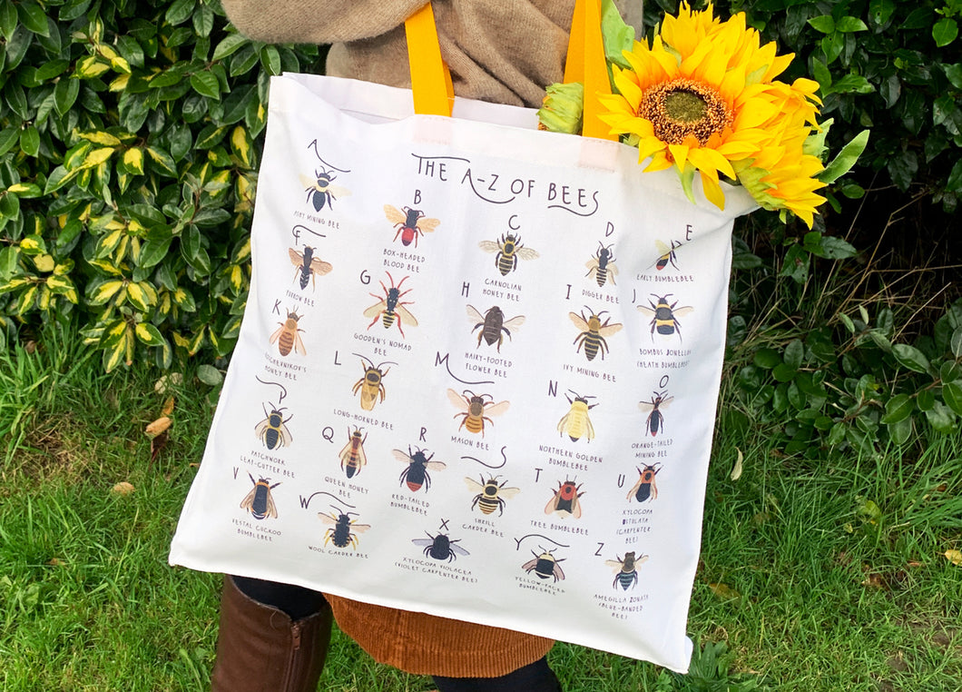 A-Z of Bees Tote Bag