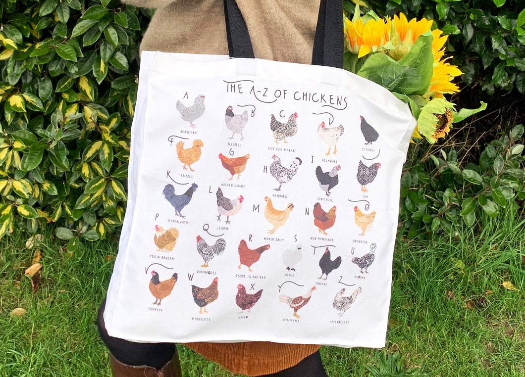 A-Z of Chickens Tote Bag