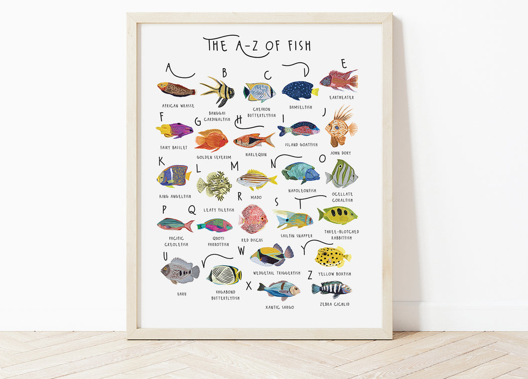 A-Z of Fish Poster