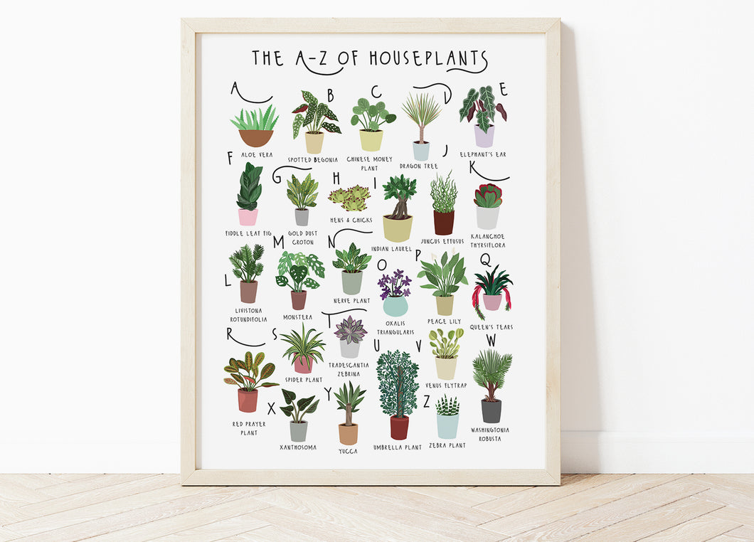 A-Z of House Plants Poster