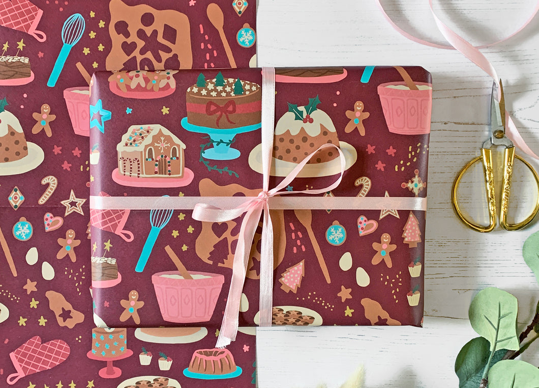 Christmas Baking Wrapping Paper