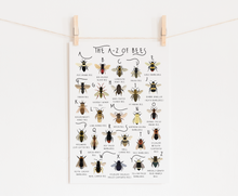 Load image into Gallery viewer, A-Z of Bees Poster