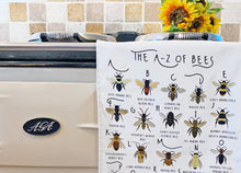 Load image into Gallery viewer, A-Z of Bees Tea Towel