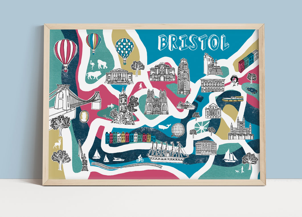 Bristol Illustrated Map