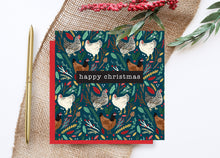 Load image into Gallery viewer, Chickens Christmas Card